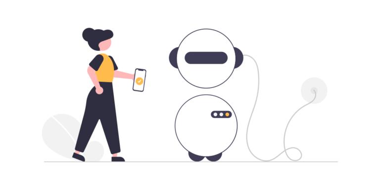 illustration robot - intelligence artificielle - draftr