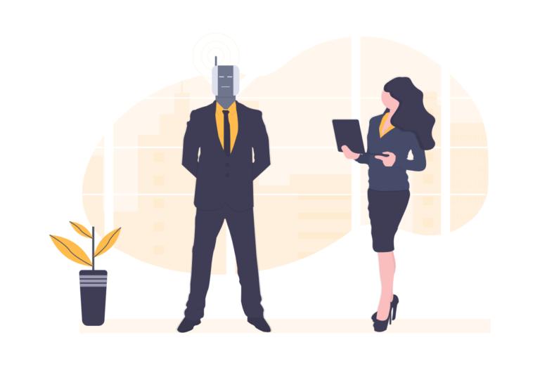Illustration homme robot - intelligence artificielle - draftr