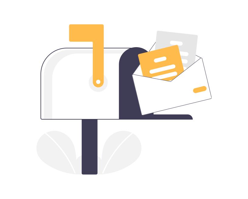 Illustration d'une boite aux lettres